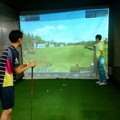【レポート】ゴルフシミュレーターを使ったレッスンの流れ